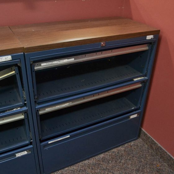 3-Drawer Filing Cabinet with no drawer fronts