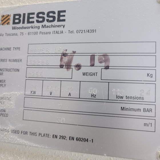 Biesse Rover 346 CNC Router